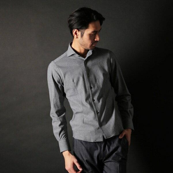 【大人気シャツ再入荷】Russel Geometric Shirt/ミッシェルクランオム(MICHEL KLEIN HOMME)