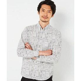 アルファベットプリントシャツ/モルガンオム(MORGAN HOMME)
