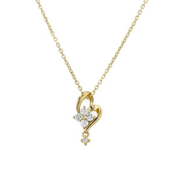 K18 イエローゴールド ダイヤモンド ハートモチーフ ネックレス/エステール(ESTELLE)