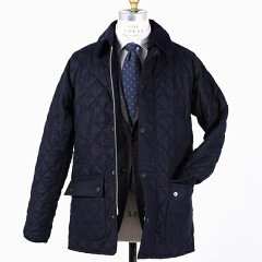 Quilted Wool Bedale SL 114-15-0310: Navy