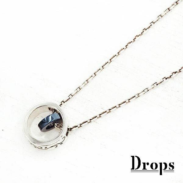 ダブルリングチタンネックレス/ドロップス(Drops)