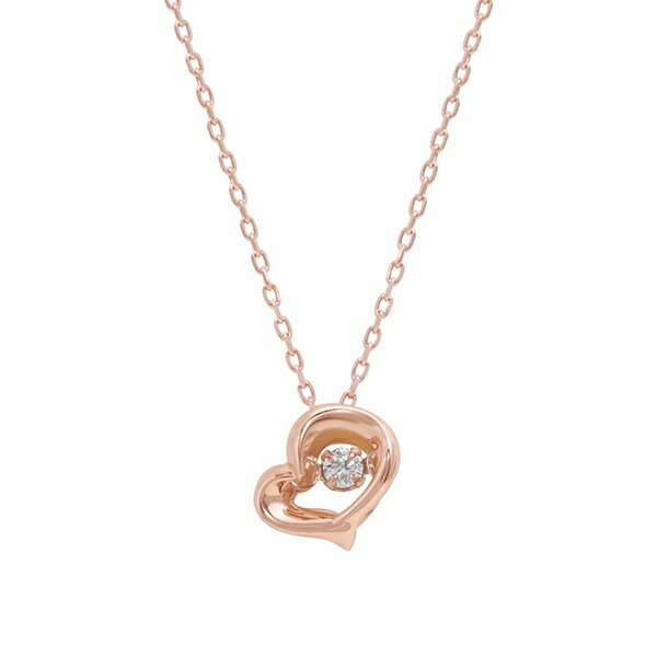 K10 ピンクゴールド ダイヤモンド ハート ネックレス/ブルーム(BLOOM)