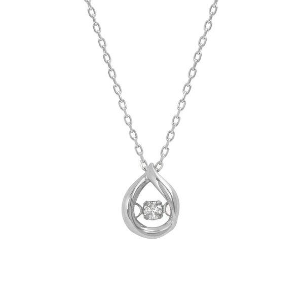 K10 ホワイトゴールド ダイヤモンド しずく ネックレス/ブルーム(BLOOM)