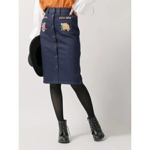 ウィゴー(WEGO/レトロ刺繍デニムタイトスカート)/ウィゴー(レディース)(WEGO)