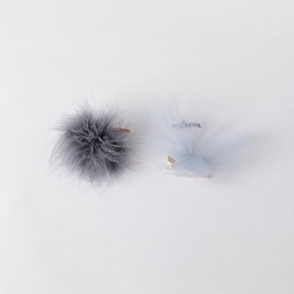 Cilsoie チュール/フェザー クリップ シルソワ ふわふわピン ギフト/ジュエルチェンジズ(Jewel Changes)