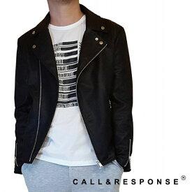 PUダブルライダースジャケット/コール&レスポンス(CALL&RESPONSE)