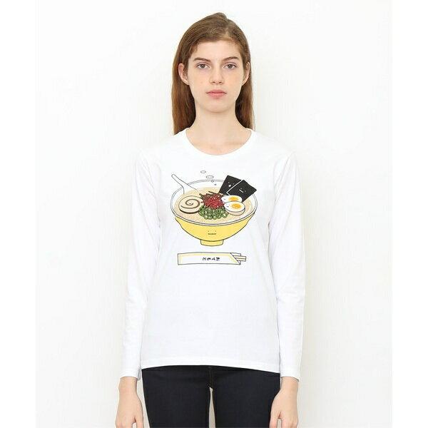 【ユニセックス】ロングスリーブTシャツ/トンコツラーメンクン/グラニフ(graniph)