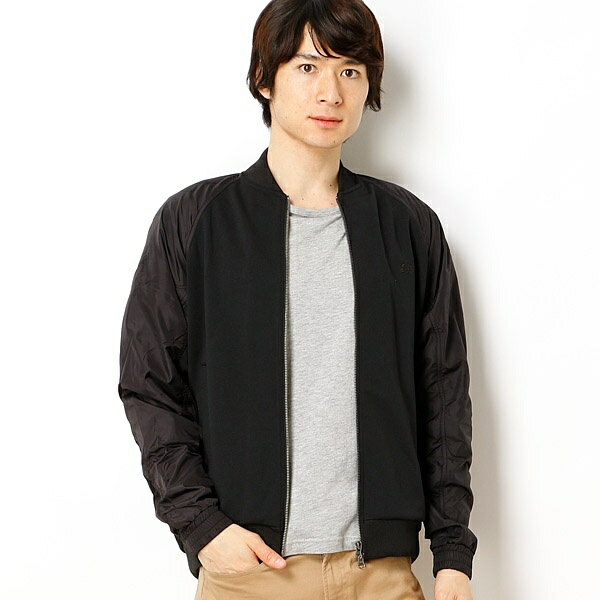 【18SS】TEXTURE MIX BOMBER NECK JACKET/フレッドペリー(メンズ)(FRED PERRY)