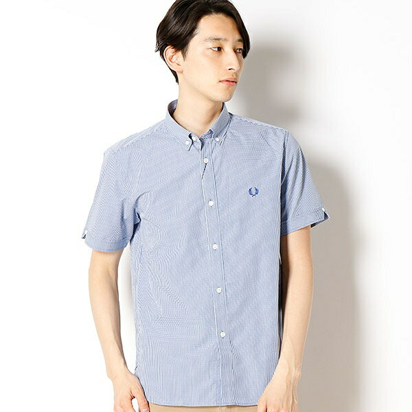 【18SS】GINGHAM S / S SHIRT/フレッドペリー(メンズ)(FRED PERRY)
