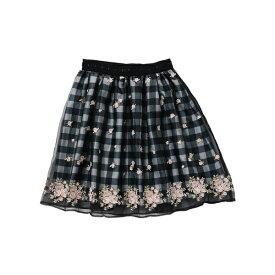 フェアリーフラワーギンガムスカート / mille fille closet/ロディスポット(LODISPOTTO)