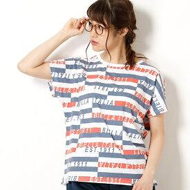 総柄プリント半袖Tシャツ/フィラ(FILA)