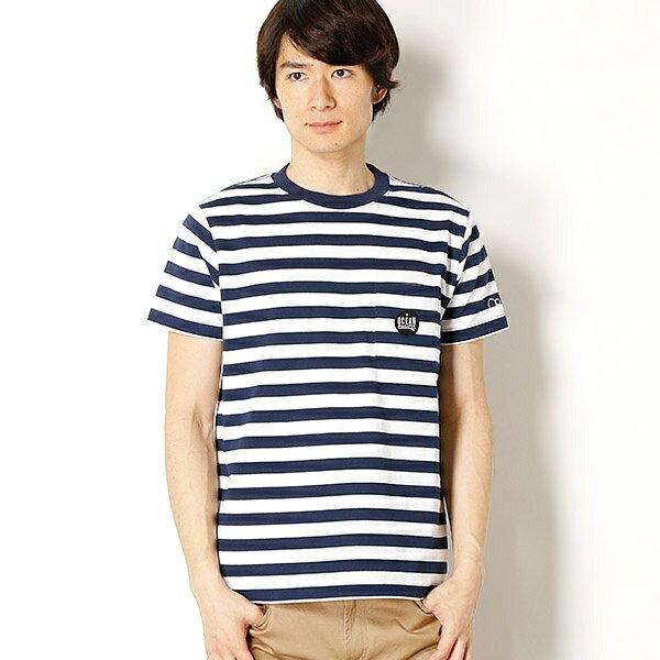 OCEANPACIFIC メンズボーダーデザインTシャツ/OP(OP)