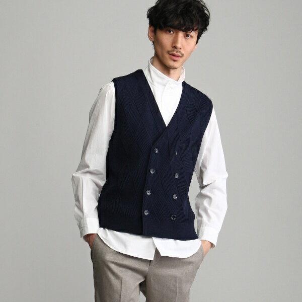 MTシャツ(麻混カゴメニットベスト)/タケオキクチ(TAKEO KIKUCHI)