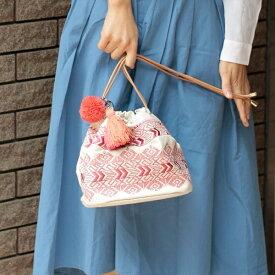 【non-no8月号掲載】エンブロイダリー巾着バッグ/カカトゥ(kakatoo)