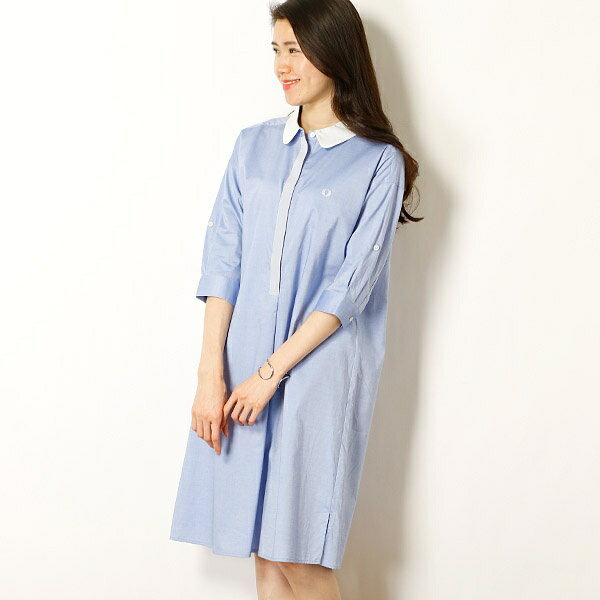 【18SS】『雑誌 FUDGE 5月号掲載商品』WOVEN SHIRT DRESS/フレッドペリー(レディス)(FRED PERRY)
