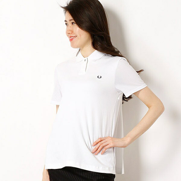 【18SS】PLEAT BACK PIQUE SHIRT/フレッドペリー(レディス)(FRED PERRY)