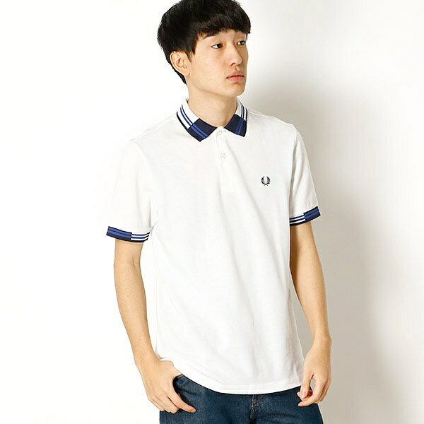 【18SS】BLOCK TIPPED PIQUE SHIRT/フレッドペリー(メンズ)(FRED PERRY)