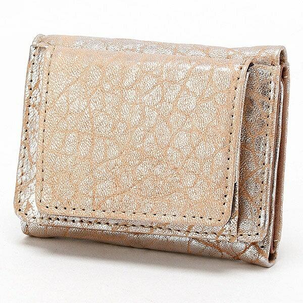 ミニ財布 厚口シープ三つ折りボックス型ミニウォレット/ペルケ(perche')