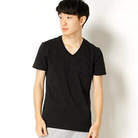 【AKM Contemporary】AKM Logo emboss print t-shirts/アドポーション(ADOPOSION)