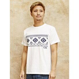 【Kahiko】オルテガウェーブメンズTシャツLサイズ/チャイハネ(CAYHANE)