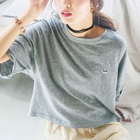 <Lee>ロゴ入りショートTシャツ/リュリュ(RyuRyu)