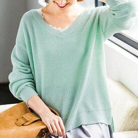 【2点セット】ラメニット&レース使いキャミ/ジーラ バイ リュリュ(ファッション)(GeeRA by RyuRyu)