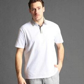 <大きいサイズ>幾何学柄ポロシャツ/ムッシュニコル(セレクト)(MONSIEUR NICOLE SELECT)