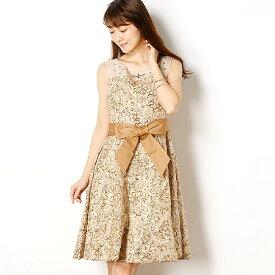61c991696991c デコルテビジューマーク 幾何学模様スパンコール刺繍レースドレス/ドリードール(Dorry Doll