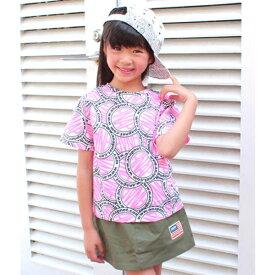 サークルロゴ柄Tシャツ/アナップキッズ&ガール(ANAP KIDS&GIRL)