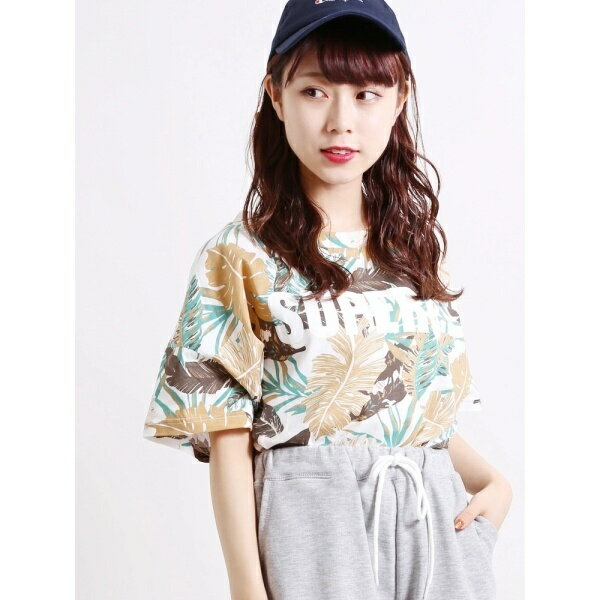 WEGO/ボタニカルロゴプリントTシャツ/ウィゴー(レディース)(WEGO)