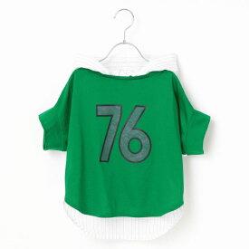 9b7bd8862af27  ジュニアサイズ ベースボール風Tシャツ/コムサフィユ(COMME CA FILLE)