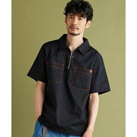 ユニバーサルオーバーオールステッチジップシャツ/モルガンオム(MORGAN HOMME)