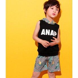 リーフ柄セットアップ/アナップキッズ&ガール(ANAP KIDS&GIRL)