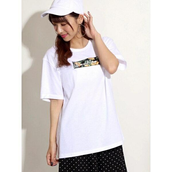 WEGO/ボタニカルBOXロゴプリントTシャツ/ウィゴー(レディース)(WEGO)