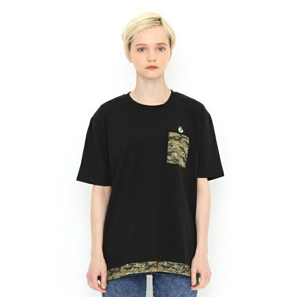 【ユニセックス】カモフラージュポケットショートスリーブTシャツ(サンダーアップル)/グラニフ(graniph)