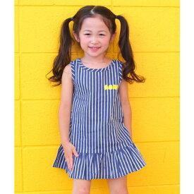 ストライプ柄裾フリルワンピース/アナップキッズ&ガール(ANAP KIDS&GIRL)