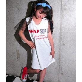 ドットチュールワンピース/アナップキッズ&ガール(ANAP KIDS&GIRL)