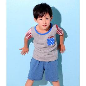 フラッグパターンTシャツ/アナップキッズ&ガール(ANAP KIDS&GIRL)