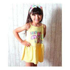 ポンポンプリントスラブワンピース/アナップキッズ&ガール(ANAP KIDS&GIRL)