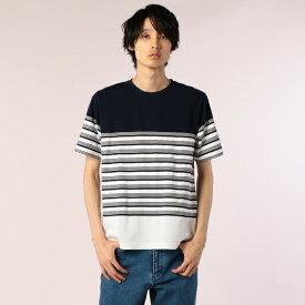 ハニカム転換ボーダーTシャツ/フレディ&グロスター メンズ(FREDY&GLOSTER)