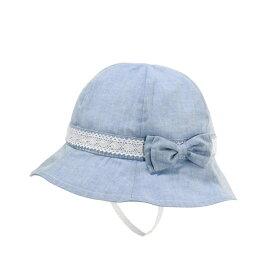 帽子(ダンガリー/ レーステープ・リボン付き / 女の子)/ミキハウス ホットビスケッツ(MIKIHOUSE HOT BISCUITS)