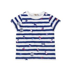 Tシャツ(デイリーシリーズ / クルマ・マリンボーダー / 男児)/ミキハウス ホットビスケッツ(MIKIHOUSE HOT BISCUITS)