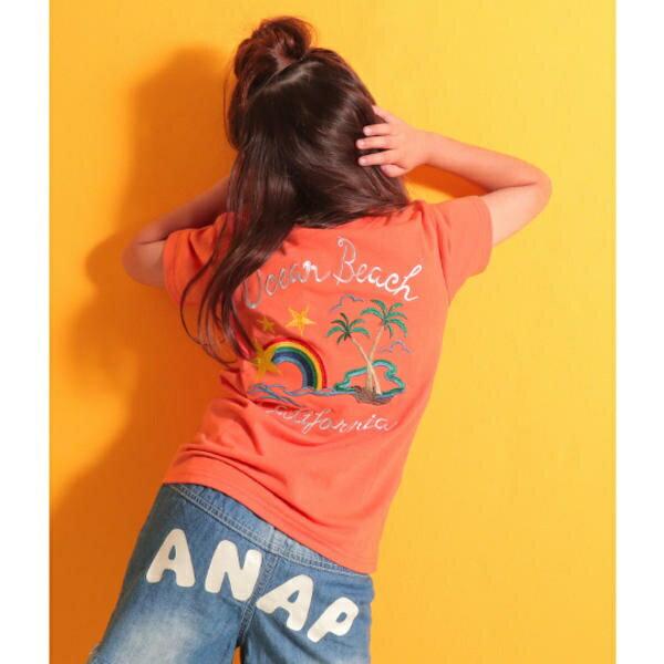 刺しゅうTシャツ/アナップキッズ&ガール(ANAP KIDS&GIRL)