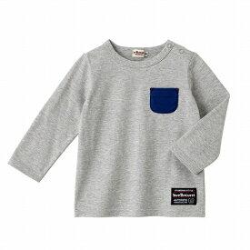 シンプルポケット付きTシャツ(デイリーシリーズ )/ミキハウス ホットビスケッツ(MIKIHOUSE HOT BISCUITS)
