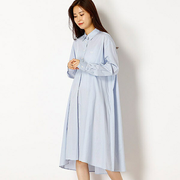 【18SS】BACK PLEATED SHIRT DRESS/フレッドペリー(レディス)(FRED PERRY)