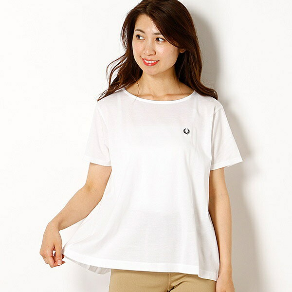 【18AW】PIQUE T-SHIRT/フレッドペリー(レディス)(FRED PERRY)