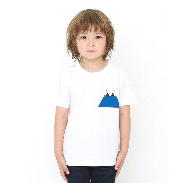 【キッズ】ベーシックTシャツ/ビューティフル シャドー マウンテン/グラニフ(graniph)