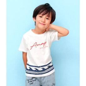 波柄プリントTシャツ/アナップキッズ&ガール(ANAP KIDS&GIRL)