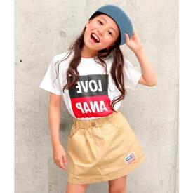 配色BOXロゴTシャツ/アナップキッズ&ガール(ANAP KIDS&GIRL)