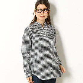 スキッパーカラーギンガムチェックシャツ/エーグル(AIGLE)